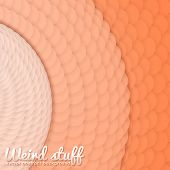 picture of paper cut out  - Array of paper cut circles with shadows in form of spiral - JPG