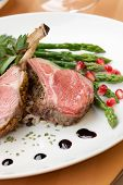 stock photo of lamb chops  - Herb crusted lamb chops  - JPG