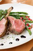 pic of lamb chops  - Herb crusted lamb chops  - JPG