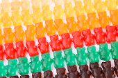 picture of gummy bear  - a gummy bears series background texture closeup - JPG