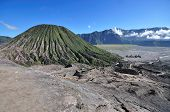 stock photo of bromo  - Mount Bromo volcanic landscape in East Java Indonesia - JPG