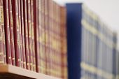 picture of hardcover book  - The image of books on the shelf in a library - JPG