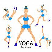 stock photo of surya  - Vector yoga illustration - JPG