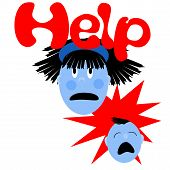 picture of frazzled  - frazzled mommy with crying baby illustrated poster - JPG