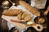 picture of sesame seed  - Bread with sesame seeds - JPG