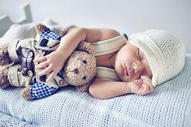 foto of sweet dreams  - Portrait of a little sweet newborn baby - JPG