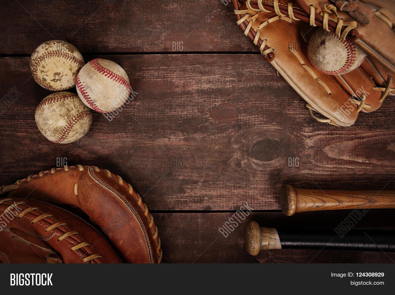 Old Vintage Baseball Background. Image & Photo