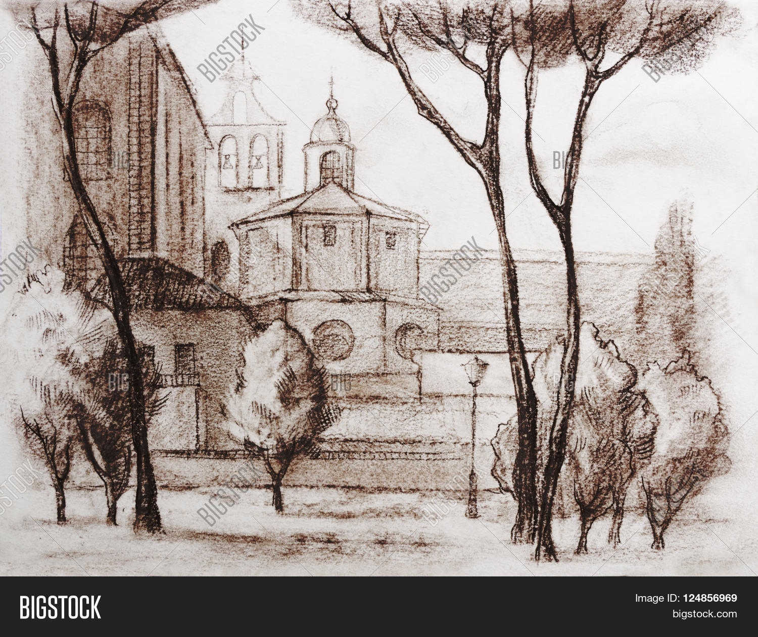 Poster design drawing - Graphic Illustration Of Rome Italy Poster Design Drawing Two Color Pencil