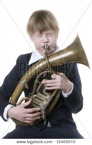 girl with the alto sax-horn