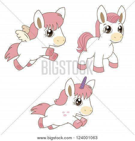 Set Of Magic Horses Unicorns And Pegasus. Cartoon Animals Vector. Unicorn Are Real. Unicorn Emoji. Unicorn Hair. Unicorn Horn. Unicorn Games. Pegasus Racing. Pegasus As Toy. Pegasus Games.