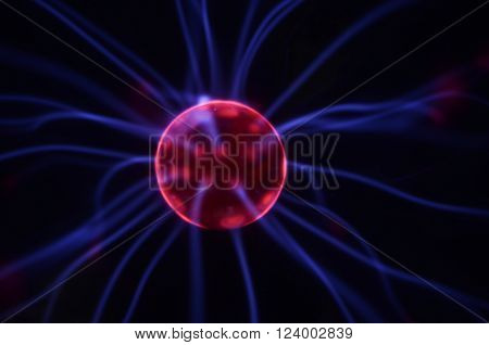 Close up of plasma globe for energic background