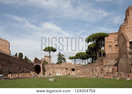 ancient, hippodrome, Rome, Italy, summer, tourism, sport, history