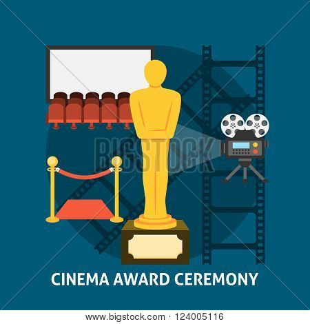 Cinema award ceremony. Cinema festival movie theater entrance