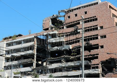 Belgrade Bomb Damage