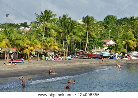 Schoelcher Martinique France - august 29 2015 : the picturesque seaside