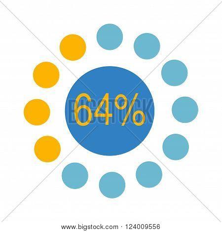 Circle chart vector. Vector circle chart infographic.Template for diagram, graph, presentation and circle chart.Business concept with options, parts, steps or processes. Abstract circle chart background.