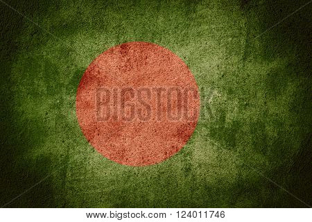 flag of Bangladesh or Bangladeshi banner on rough pattern background