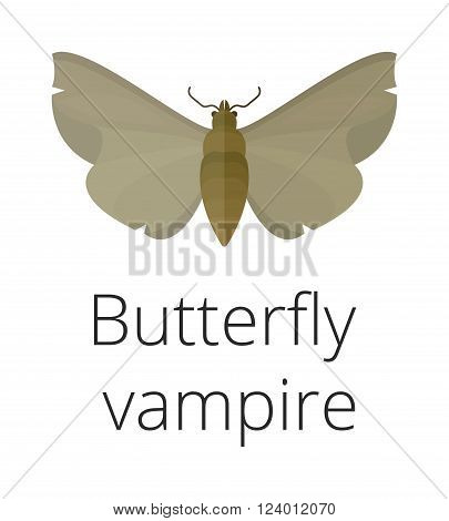 Vampire butterfly of Death vector illustration. Vampire butterfly of Death isolated on white background. Vampire butterfly of Death vector icon illustration. Vampire butterfly of Death silhouette