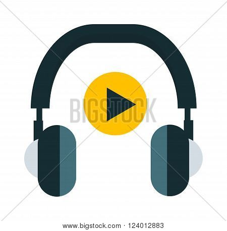 Radio headphones vector illustration. Radio headphones isolated on white background. Radio headphones vector icon illustration. Radio headphones isolated vector. Radio headphones silhouette
