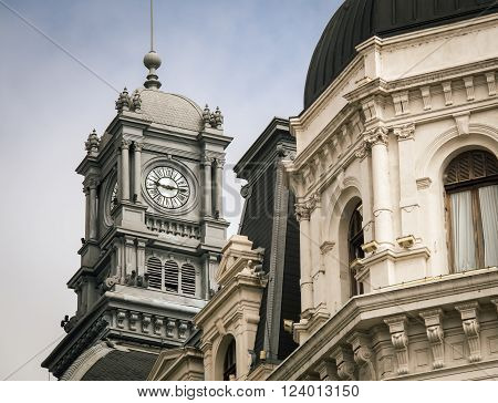 A clock tower in buenos aires Argentina