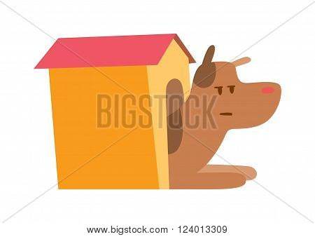Dog house vector illustration. Doghouse isolated on white background. Dog house vector icon illustration. Doghouse isolated vector. Dog house flat silhouette