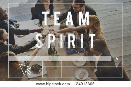 Team Spirit Cooperation Collaboration Work Concept