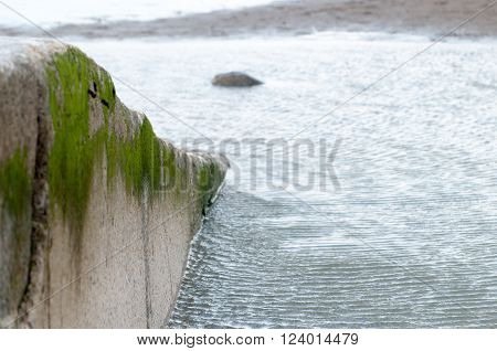 Slipway for launching boats and lifeboats into the sea