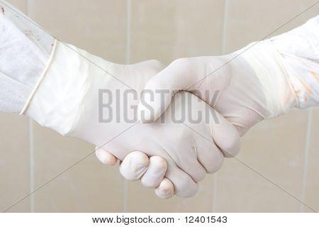 doctor's handshake