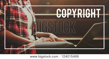 Copyright Trademark Patent Property Concept