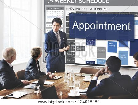 Appointment Activity Schedule Calendar Meeting Concept