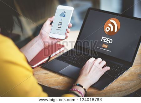 Feed RSS Internet Network Technology Web Concept