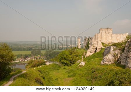 Chateau Gaillard, ruined famous castle of Richard the Lionheart, Normandy