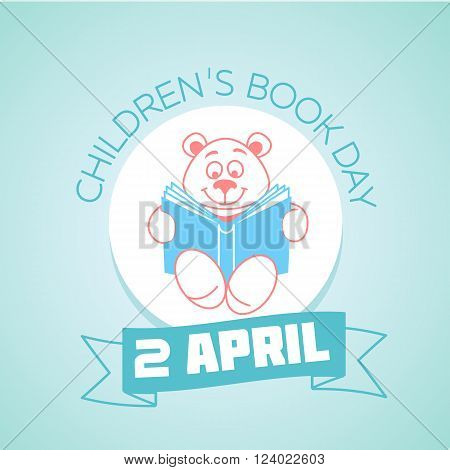 Icon for holiday - Books for Young (Children's Book Day). Icon in the linear style