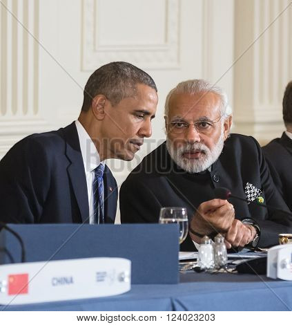 Barack Obama And Narendra Damodardas Modi