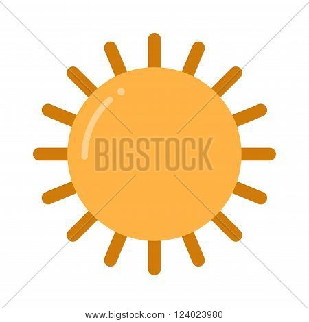sun icon isolated on white background. Sun isolated, Sun summer icon design. yellow sun symbol. sun sun element.