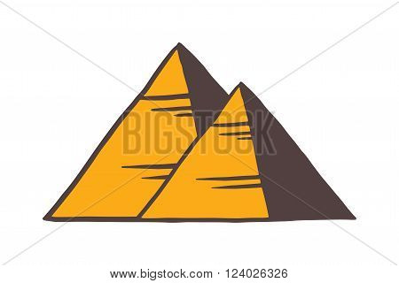 Egypt pyramids vector illustration. Egypt pyramids isolated on white background. Egypt pyramids vector icon illustration. Egypt pyramids isolated vector. Egypt pyramids silhouette