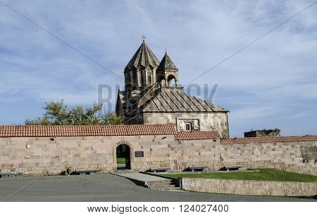 Entrance to the courtyard the monastery of St.John the Baptist in Gandzasar