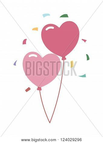 Wedding balloons romantic party decoration vector illustration. Love couple Balloons. Wedding balloons. Wedding balloons happy celebration. Wedding balloons vector.