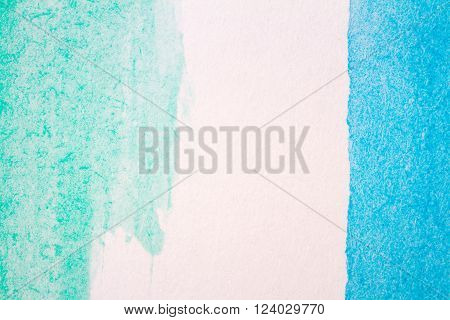 Abstract hand painted blue and green art background