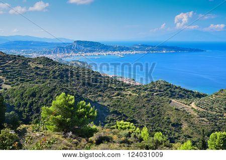 Lookout from Mount Scopos in Zakynthos island, Greece