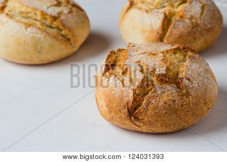Fresh Crusty Bread Bun