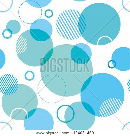 A seamless background design with overlapping circles.