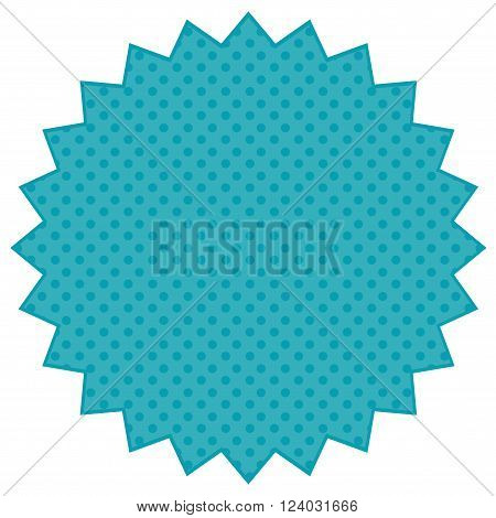 Vintage label in blue tones. Vector image.