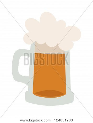 Vector beer glass. Beer cup, beer glass and beer label. Beer cup silhouette, beer vector icon, beer isolated. Oktoberfest beer vector cartoon style. Beer drink, beer sign, beer pub alcohol