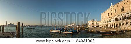 Doge's Palace And Basilica Di Santa Maria In Venice