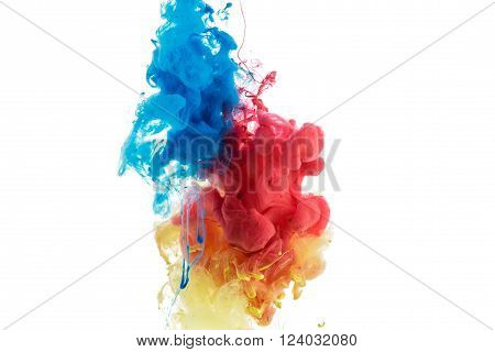 Abstract Color Paint In Water