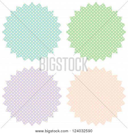 Vintage labels set in pastel tones. Vector image.