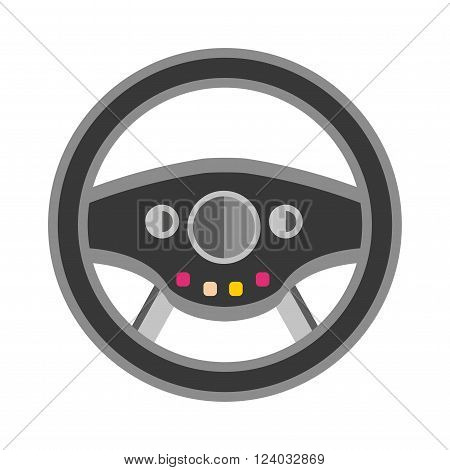 Sport car rudder wheel vector. Sport car rudder wheel illustration. Sport car rudder wheel isolated on white background. Sport car rudder wheelv icon. Car rudder wheel isolated vector. Sport car rudder wheel silhouette