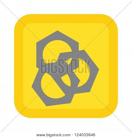 Screw nut vector. Screw nut illustration. Screw nut  isolated on white. Screw nut icon. Screw nut isolated. Screw nut silhouette. Screw nut flat style. Screw nut tool