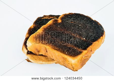 burned toast bread slices
